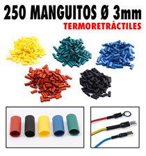 250 Manguitos Ø 3mm termoretráctiles en 5 colores. Protección, identificación...