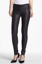 BNWT HELMUT LANG Plonge Leather Stretch Pants Leggings $920 Size 6 Black