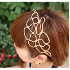 Trendy Summer Hairband Womens Alloy Chain Jewelry Wide Headband Hair Accessories