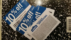 (20x) L0WES Coupons 10% Off for Home Depot only Expires DECEMBER 15 2021