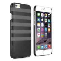 Proporta Hard Shell Case for Apple iPhone 6 / 6s - Black with Grey Stripe