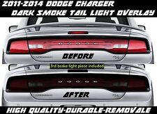 Dark Smoke Overlay Tint smoked for 2011 2012 2013 2014 Dodge Charger Tail Light