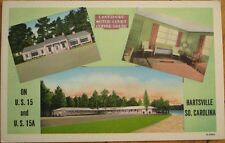 Hartsville, SC 1940 Linen Postcard: Lakeshore Motor Court/Cafe - South Carolina