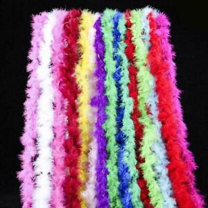 2M Feather Boa Strip Fluffy Craft Costume Fancy Dress Wedding Party Xmas Decor