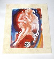 Salvador Dali vintage year 1974 bible skull cross art custom 11x14 matted