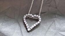 Stunning 14K Gold and Diamond Heart Pendant and Necklace