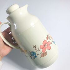 New listing Vintage 70s Interpur Thermos Pitcher Coffee Juice Floral Flowers Kitsch Retro
