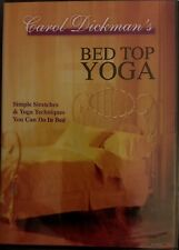"Carol Dickmam's Bed Top Yoga"" (DVD, 1999) Beginner Yoga Therapy SEALED free shpg"