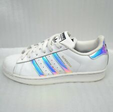 Size 5 Adidas Superstar Trainers White Iridescent