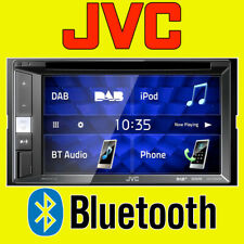 "JVC Car Van CD USB Double Din Stereo Bluetooth iPod iPhone 6.2"" DAB Radio"