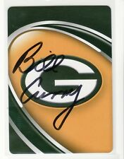 BILL CURRY GREEN BAY PACKERS 1965-1966 AUTOGRAPHED PLAYING CARD