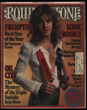 1977 Vintage Rolling Stone Magazine Cover Only - Peter Frampton