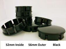 4 ALLOY WHEEL CENTRE CAPS 52mm - 56mm BLACK AUDI VW GOLF 4 RENAULT OPEL BORBET