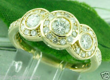 1.30 ct 14k Solid Yellow Gold ladies Diamond Ring Anniversary made in USA