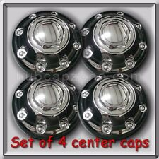 2001-2002 Dodge Ram Truck 2500 Single Wheel Hub Caps, Chrome Center Caps Set 4