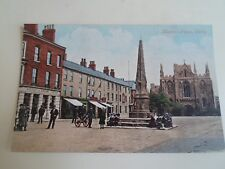 Old Nostalgic Postcard Market Place Selby - Postally Used Stamp Removed §A1763