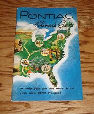 1955 Pontiac Owners Operators Manual Guide 55