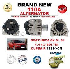 FOR SEAT IBIZA 6K 6L 6J 1.4 1.9 SDi TDi CUPRA R 1999-ON NEW 110A ALTERNATOR