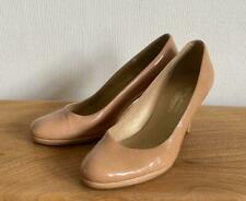 RUSSELL & BROMLEY Stuart Weitzman Nude Patent Pumps Court Heel Shoes Size UK5.5