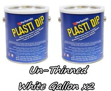 2 Gallons White UNTHINNED Performix Plasti Dip Concentrate STRENGTH FREE S/H