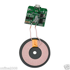 Qi Wireless Charger PCBA Circuit Board Coil Wireless Charging Micro USB Port DIY