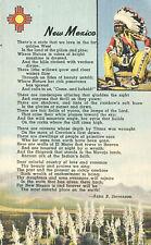 New Mexico Poem Anna B Stevenson Postcard Teich 1944 Indian