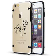 For Apple iPhone Se 5s 6 6s 7 8 Plus Slim Clear Tpu Hard Case Cover Pitbull
