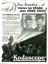 Publicité ancienne Photo Kodascope 1936 issue de magazine