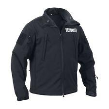 SECURITY Officer Tactical Waterproof Special Ops Hooded Jacket Guard Black Hoody