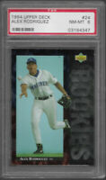 1994 Upper Deck Alex Rodriguez Seattle Mariners #24 RC PSA 8 NM-MT Rookie Card