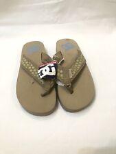 DC Girls Sandals in Beige & Blue Youth Kid's Skatewear Flip Flops UK Size 4 New
