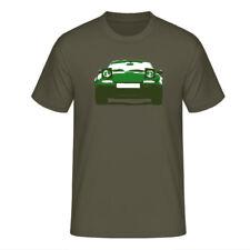 """T-Shirt """"Mazda MX-5 Miata (NA)"""", grün auf khaki / dreifarbiger Print, vorne"""