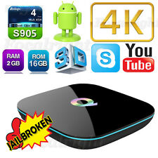 2GB 16GB 4K Quad Core Q-Box Android 6.0 Smart TV Box Wifi Media Player