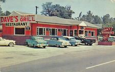 Ulmers SC Dave's Riverside Grill Drive-In Restaurant Old Cars Postcard