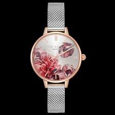 New $155 TED BAKER Women's Kate Tranquility Mesh Strap WATCH Rose Gold Col 32MM