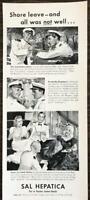 ORIGINAL 1940 Sal Hepatica Laxative Print Ad Admiral's Ball