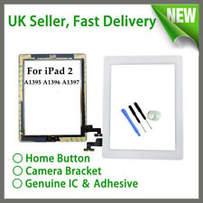 For Apple iPad 2 A1395 A1396 Screen Digitizer Touch Replacement White + Button