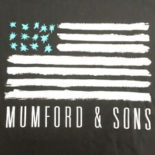Mumford & Sons T-Shirt 2015 Tour 2 Sided Dates Cities Concert Flag Tee Size S