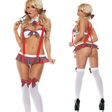 Girl Bra Lingerie Costume Cosplay Underwear Erotic Set Suspender Skirt Hot&New
