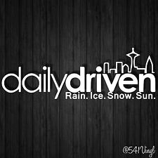"""Daily Driven Seattle Vinyl 9"""" Decal illest laptop jdm stickers classy funny car"""