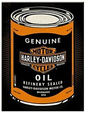 Harley Davidson Genuine Oil steel fridge magnet   (na)