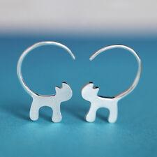 Mujer Pendientes de botón Colgante gato Mini zarcillos Aretes Earrings