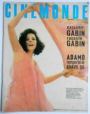 ►CINE MONDE 1657/1966-MARILU TOLO-JEAN GABIN-MARIE LAFORET-ADAMO-LIZZA MINELLI..