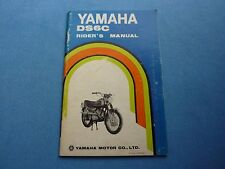 YAMAHA DS6C OWNER'S MANUAL OWNERS MANUAL YAMAHA  DC6 C DS RIDER