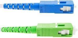 Cable fibre optique toutes Freebox SC-APC à SC-UPC Blindage bout vert et bleu