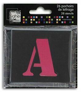 Toga LE17 Lot de 26 Pochoirs lettres Plastique Transparent 5 x 5 x 0,1 cm