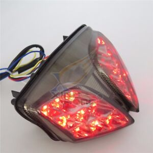 Motocycle LED Integrated Rear Running Tail Stop Brake Light Super Bright Tail Light Fit For Suzuki 07-08 GSXR1000 GSX-R 1000 K7 Chrome Smoke