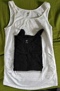 Umstandsmode 2x Top H&M schwarz/weiß Größe M, Set