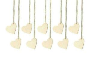 Tischkarten Herzen aus Holz 10 Stück Holzherzen Anhänger Tischdeko Hochzeit