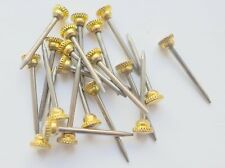HARDENED PICTURE HANGING PINS WITH A BRASS KNURLED HEAD/PIN/NAIL/HOOK-C00643